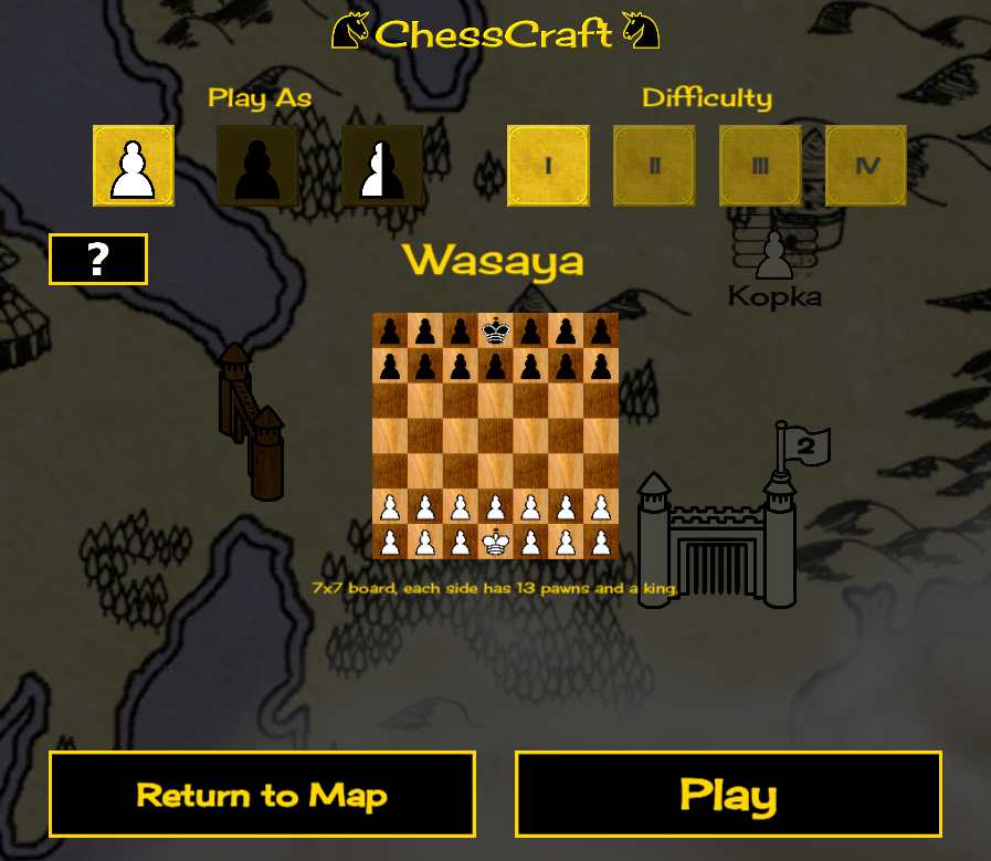 preview of a regular adventure map chess board